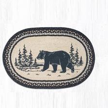 Bear Oval Braided Rug   Capitol Earth Rugs   OP-313BEARSILHO