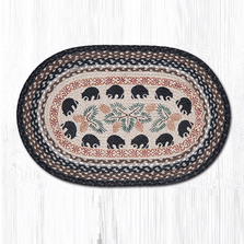 Black Bear Oval Braided Rug | Capitol Earth Rugs | OP-313BLKBEAR