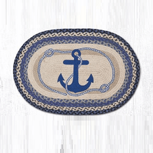 Anchor Oval Braided Rug | Capitol Earth Rugs | OP-443