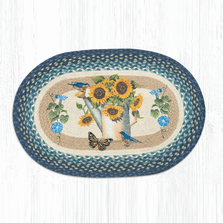 Sunflower Water Can Oval Braided Rug | Capitol Earth Rugs | OP-568