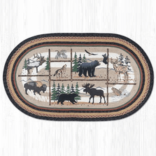 Lodge Oval Braided Rug | Capitol Earth Rugs | OP-583