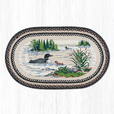 Loon Oval Braided Rug | Capitol Earth Rugs | OP-313LOON