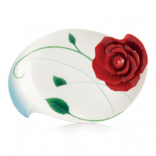 Romance of the Rose Porcelain Plate | FZ02660 | Franz Collection