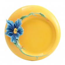 Blue Poppy Porcelain Dessert Plate | FZ02929 | Franz Collection
