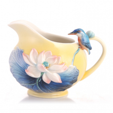 Leisure Kingfisher and Lotus Porcelain Creamer   FZ03486   Franz Collection