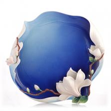 Elegant Blossom Waltz Yulan Magnolia Plate | FZ03490 | Franz Collection
