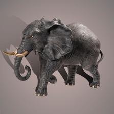 "Elephant Large Bronze Sculpture ""Bull"" | Barry Stein | BBSELE1-BLG"