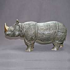 Indian Rhino Bronze Sculpture | Barry Stein | BBSRHI1-IND