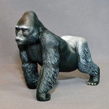 Silverback Gorilla Bronze Sculpture | Barry Stein | BBSGORSILVER1