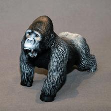 "Silverback Gorilla Bronze Sculpture ""Mombo"" | Barry Stein | BBSGORSILVERMAMB"