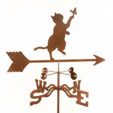 Cat and Butterfly Weathervane | EZ Vane | ezvCatButterfly