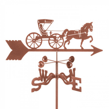 Doctor's Horse and Buggy Weathervane | EZ Vane | ezvdochorsebuggy
