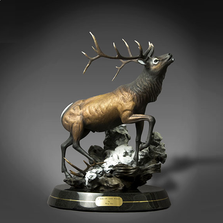 "Elk Bronze Sculpture ""Call of the Wild"" 