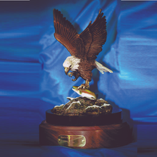 "Eagle Bronze Sculpture ""Nature's Bounty"" 