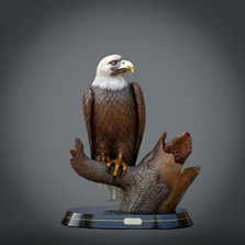 "Eagle Bronze Sculpture ""Pride of America"" 