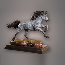 """Horse Bronze Sculpture """"Crown Royal"""" 