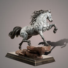 "Horse Bronze Sculpture ""The Stallion"" 