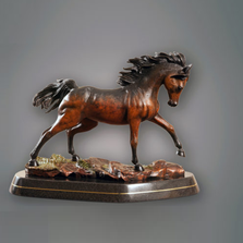 "Horse Bronze Sculpture ""Wildfire"" 