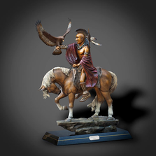 "Native American Bronze Sculpture ""Indian Scout"" 