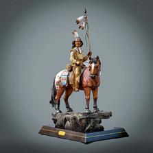 "Native American Bronze Sculpture ""Majestic"" | Barry Stein | BBSMAJESTIC"
