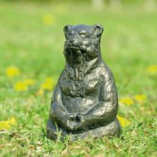 "Bear Garden Sculpture ""Meditating Yoga"" | SPI Home | 51049"