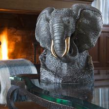 Black Elephant Ceramic Figurine | De Rosa | Rinconada | DER464B -2