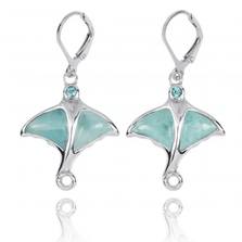Stingray Sterling Silver Larimar Drop Earrings | Beyond Silver Jewelry | NEA3318-LAR