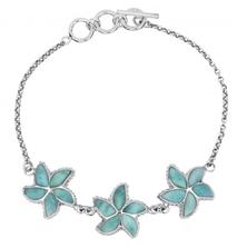 Starfish Sterling Silver Larimar Bracelet | Beyond Silver Jewelry | NB1456-LAR