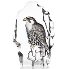 Falcon Painted Crystal Sculpture | 34212 | Mats Jonasson Maleras