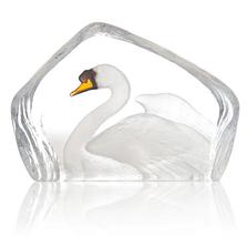 Swan Painted Crystal Sculpture | 34269 | Mats Jonasson Maleras