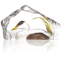 Duck Painted Crystal Sculpture | 34270 | Mats Jonasson Maleras
