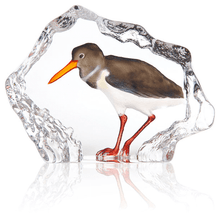 Sandpiper Painted Crystal Sculpture | 34271 | Mats Jonasson Maleras