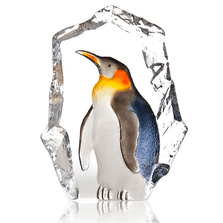 Penguin Painted Crystal Sculpture | 34272 | Mats Jonasson Maleras