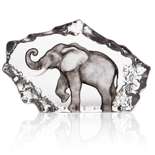 Elephant Painted Crystal Sculpture | 34275 | Mats Jonasson Maleras