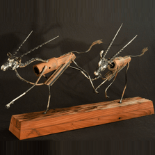 "African Gemsbok Metal Sculpture ""Namib Nomads"" 