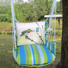 "Hummingbird Hammock Chair Swing ""Beach Boulevard"" | Magnolia Casual | BBRR606-SP"