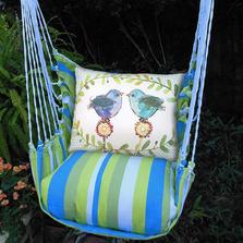 "Blue Bird Hammock Chair Swing ""Beach Boulevard"" | Magnolia Casual | BBRR503-SP"