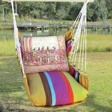"Bird Hammock Chair Swing ""Cafe Soleil"" | Magnolia Casual | CFTC602-SP"