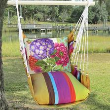 "Purple Hydrangea Hammock Chair Swing ""Cafe Soleil"" | Magnolia Casual | CFSN604-SP"