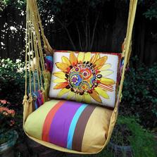 "Daisy Hammock Chair Swing ""Cafe Soleil"" | Magnolia Casual | CFRRSD-SP"
