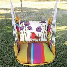 "Red Bird Hammock Chair Swing ""Cafe Soleil"" 