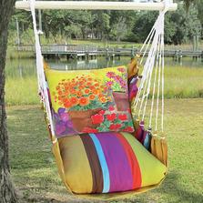 "Flower Hammock Chair Swing ""Cafe Soleil""   Magnolia Casual   CFBC603-SP"