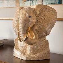 White Elephant Ceramic Figurine | De Rosa | Rinconada | 464W