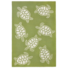Turtle Pattern Green Area Rug | Trans Ocean | TOGCAP46163416