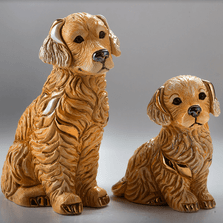 Golden Retriever Family Figurine Set of 2 | De Rosa | Rinconada | F211-F411