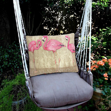 "Flamingo Hammock Chair Swing ""Chocolate"" 