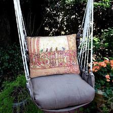 "Birds on a Gate Hammock Chair Swing ""Chocolate"" | Magnolia Casual | CHTC602-SP"