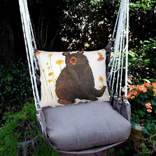 "Brown Bear Hammock Chair Swing ""Chocolate"" 