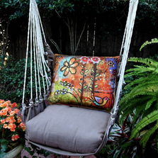 "Flower Hammock Chair Swing ""Chocolate"" 