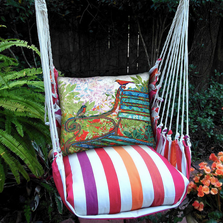 "Bird Hammock Chair Swing ""Cristina Stripe"" 